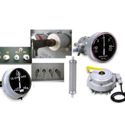 assortment of gauges and switches